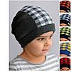 Модная клетчатая шапка для девочек