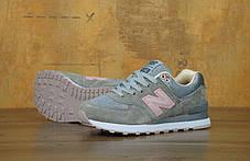 Кроссовки женские Нью Беленс New Balance 574 Grey Pink . ТОП Реплика ААА класса., фото 3