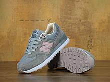 Кроссовки женские Нью Беленс New Balance 574 Grey Pink . ТОП Реплика ААА класса., фото 2
