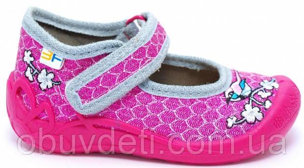 Тапочки для дівчаток дитячі 3f Польща 24р (15см)