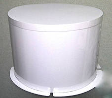 Коробка для торта Круглая, 250*195 с белой стенкой