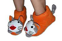 """Домашние тапочки-игрушки """"Кошечки"""". Тапочки из флиса для всей семьи, любой цвет и размер!"""