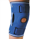 Фиксатор коленного сустава неопреновый, с ребрами жесткости Алком 4022