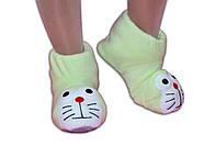 """Домашние тапочки-игрушки """"Мур-мур"""". Тапочки из флиса для всей семьи, любой цвет и размер!"""
