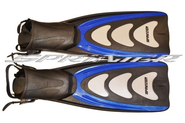Ласты профессиональные, ботинок на ремешке. M/L(р.40-43) 433