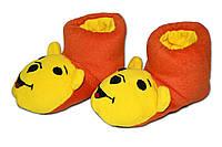 """Домашние тапочки-игрушки """"Винни Пух"""". Тапочки из флиса для всей семьи, любой цвет и размер!"""