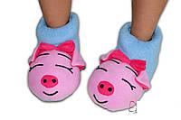 """Домашние тапочки-игрушки """"Сонные хрюши"""". Тапочки из флиса для всей семьи, любой цвет и размер!"""