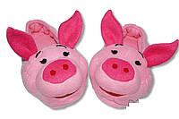 """Домашние тапочки-игрушки """"Хрюши"""". Тапочки из флиса для всей семьи, любой цвет и размер!"""