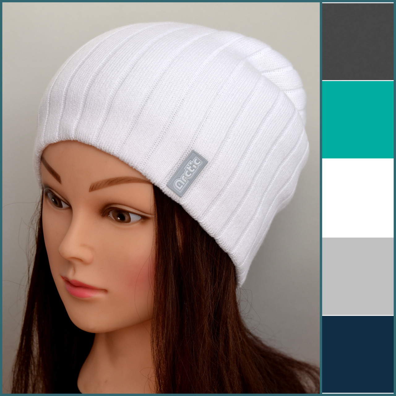 Вязаная весенне осенняя шапка для девушек