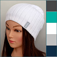 Вязаная весенне осенняя шапка для девушек , фото 1