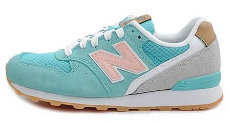 Кроссовки женские Нью Беленс New Balance 996 Light Green Pink, фото 2