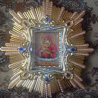 Спускная икона Пресвятой Богородицы (дерево, позолота)