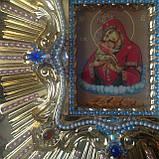 Спускная икона Пресвятой Богородицы средняя (дерево, позолота), фото 5