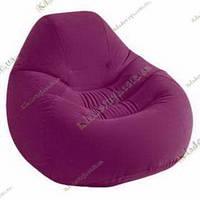 Надувное велюровое кресло Intex 68584