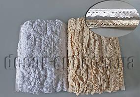 Мереживо на резинці натур. 1,5 см/50ярд 1087А