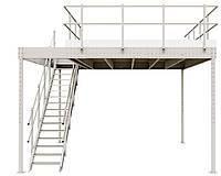 Лестницы и стремянки SVELT Мезонин SVELT T15 с лестницей MINILOFT белый