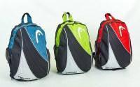 Рюкзак спортивный HEAD 6029 BACKPACK (PL, р-р 48х30х21см, красный, синий, зеленый)  Добавить в