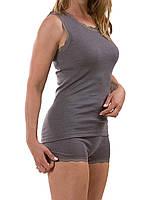 Engel Женские термошортики Engel из шелка и шерсти с кружевом темно-серые