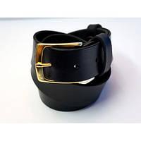 Ремень кожаный KHARCHUK Brass 5-40 135 см Черный