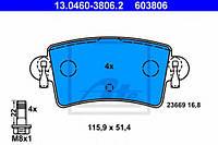 13.0460-3806.2  ATE - Гальмівні колодки до дисків