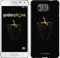 """Чехол на Samsung Galaxy Alpha G850F Черная клубника """"3585c-65-716"""""""