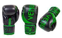 Перчатки боксерские кожаные на липучке VENUM BO-5245-G (реплика)