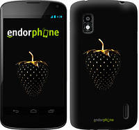 """Чехол на LG Nexus 4 E960 Черная клубника """"3585u-203-716"""""""