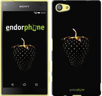 "Чехол на Sony Xperia Z5 Compact E5823 Черная клубника ""3585c-322-716"""