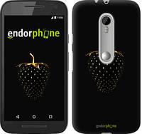 """Чехол на Motorola Moto G3 Черная клубника """"3585c-318-716"""""""