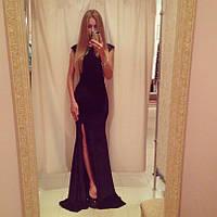 Платье черное длинное