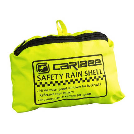 Непромокаемый чехол Caribee Safety Rain Shell Hi Vis Yellow, фото 2