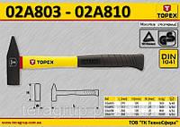 Молоток столярный ручка из стекловолокна m-300гр,  TOPEX  02A803, фото 1
