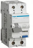 Диференційний автоматичний вимикач 1+N, 25A 30 mA B, 6 кА, A, 2м