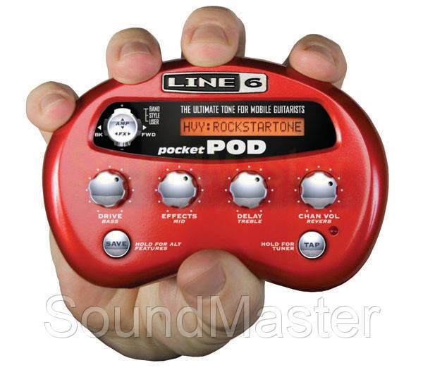 Процессор эффектов LINE6 POCKET POD - SoundMaster в Киеве