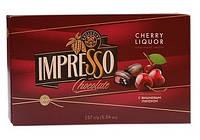 """Подарочный набор шоколадных конфет """"Impresso """" с вишнёвым ликёром 157гр"""