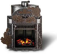 Дровяная паровая печь Ферингер Классика Экран Дуб
