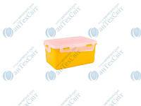 Контейнер пищевой прямоугольный с зажимом 1,5л АЛЕАНА Фиеста (168042)