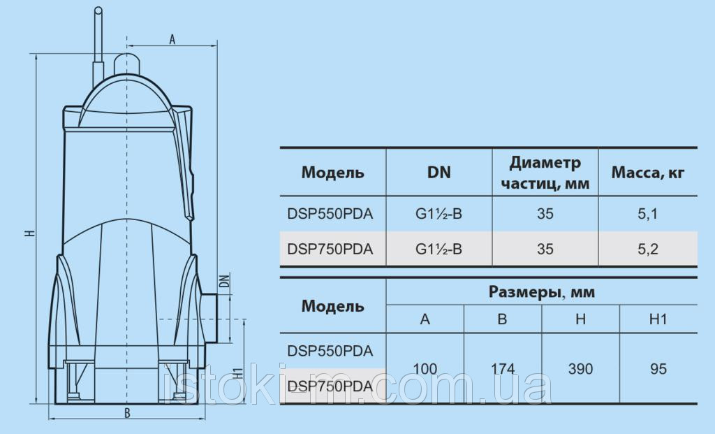 купить дренажный насос запорожье, купить DSP 750PDA