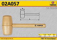 Киянкa деревянная круглая,  TOPEX  02A057