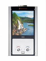 Колонка газовая Savanna 18кВт 10л LCD стеклянный фасад водопад