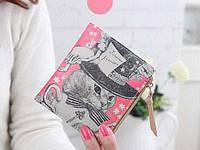 Женский кошелек кот розовый, фото 1