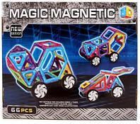 Магнитный конструктор JH6887 Транспорт 3D, 66 деталей, аналог MAGFORMERS