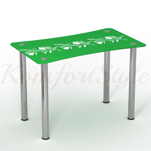 Стол стеклянный кухонный Вьюн