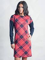 Красивое женское красное платье в ромб Рейна