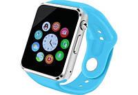 Смарт часы Smart Watch A1 Blue (with SIM + MicroSD + Camera)