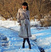 Зимнее вязаное платье (№65)