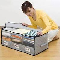 Органайзер для одежды из бамбукового волокна 3 секции