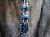 Яскраве намисто з каменем лабрадор в сріблі. Індія!, фото 4