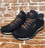 Мужские зимние ботинки К102 чёрно-кор.