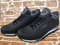 Мужские зимние ботинки К102 чёрные